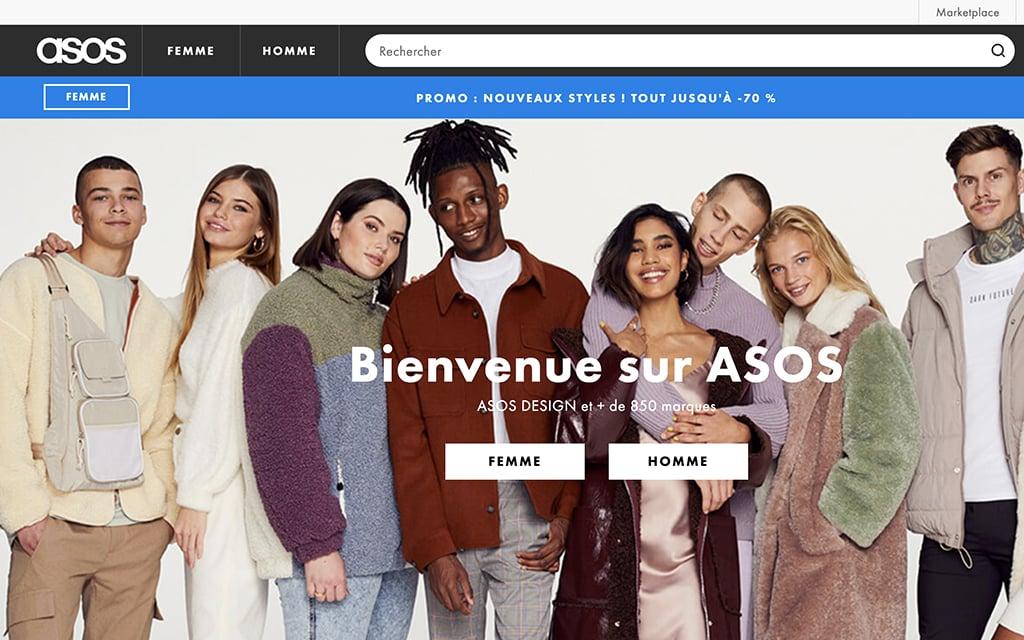 Asos site de vêtements en ligne