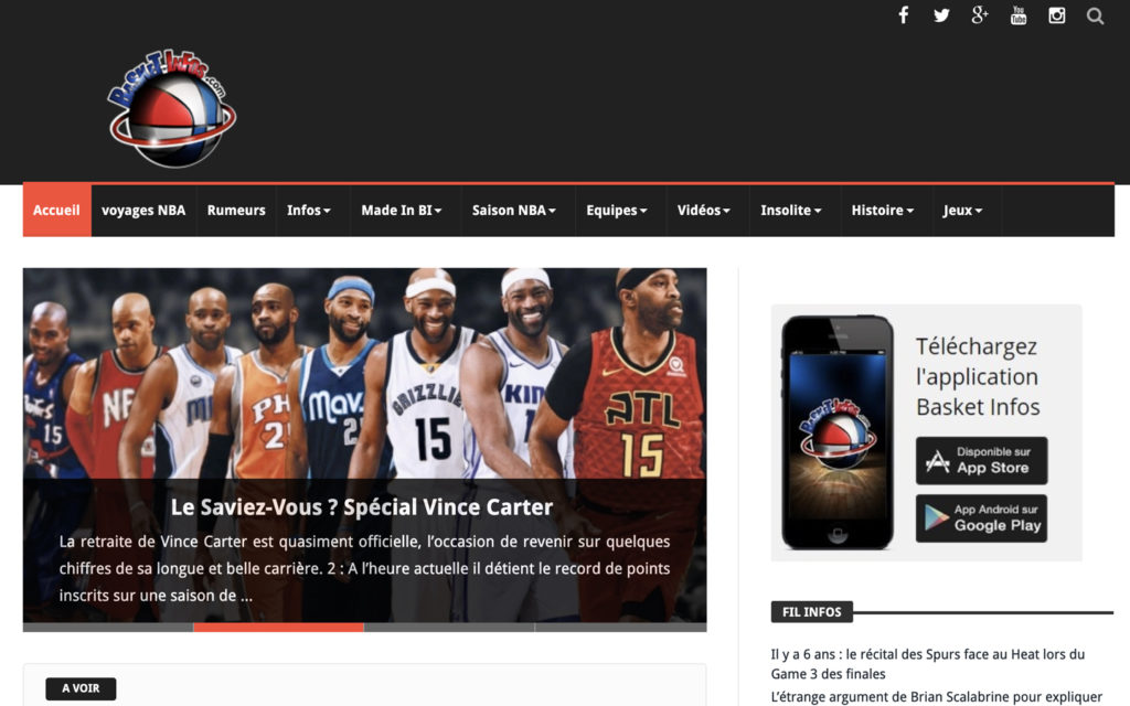 nba streaming basket infos