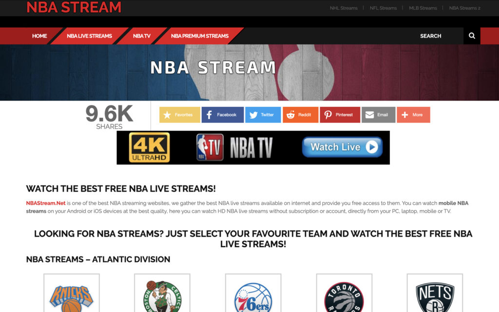 basket streaming nba stream