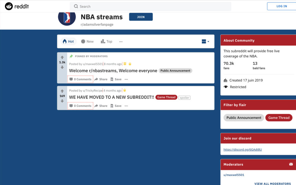 nba streaming reddit