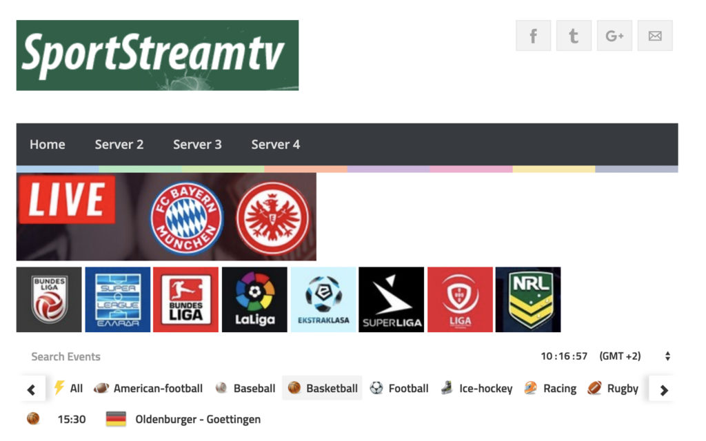 streaming basket sport stream