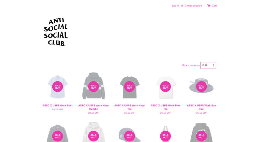meilleures marques streetwear anti social social club