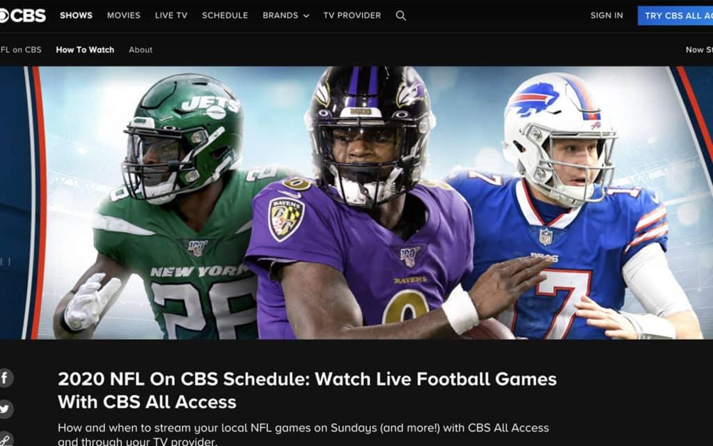 CBS nfl streaming