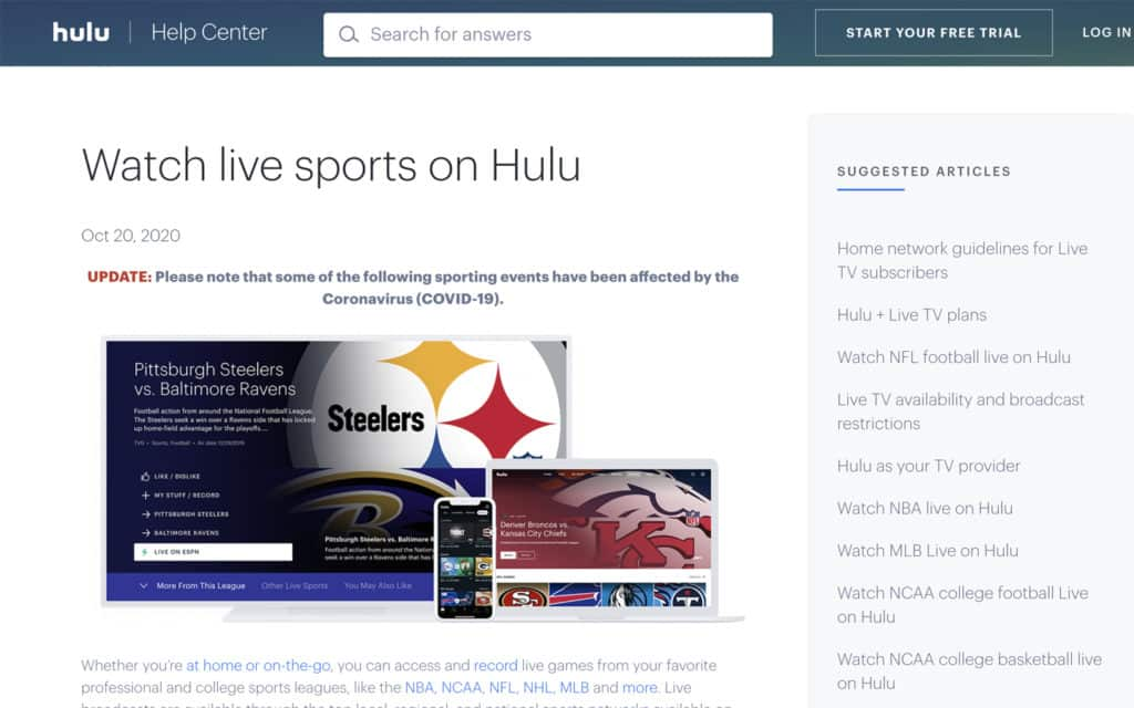Hulu tennis streaming