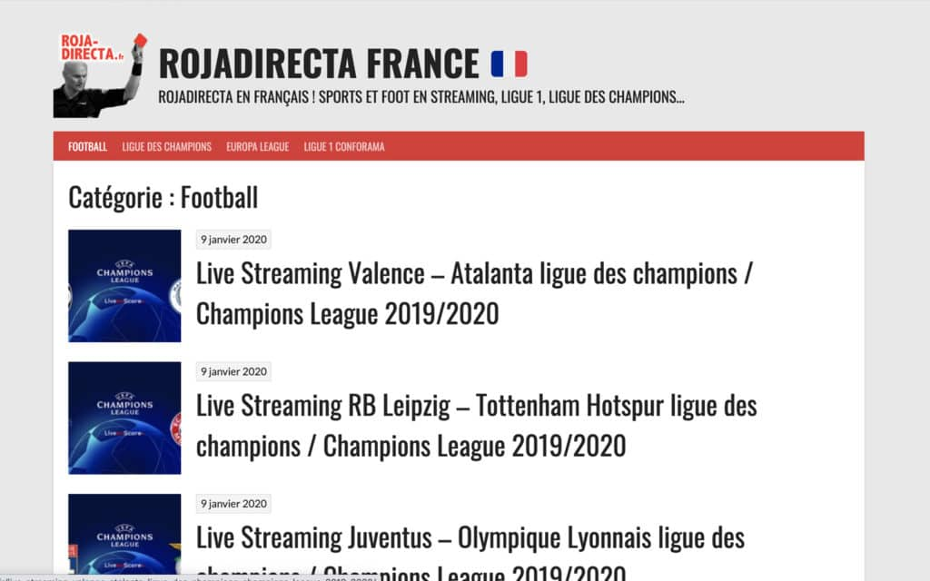 roja football streaming