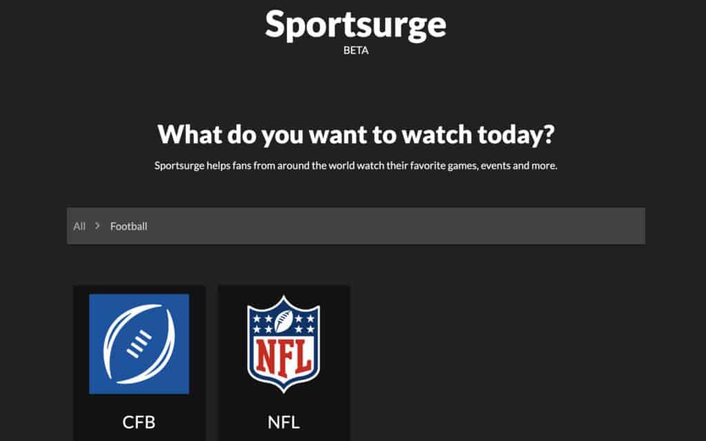 sportsurge nfl streaming