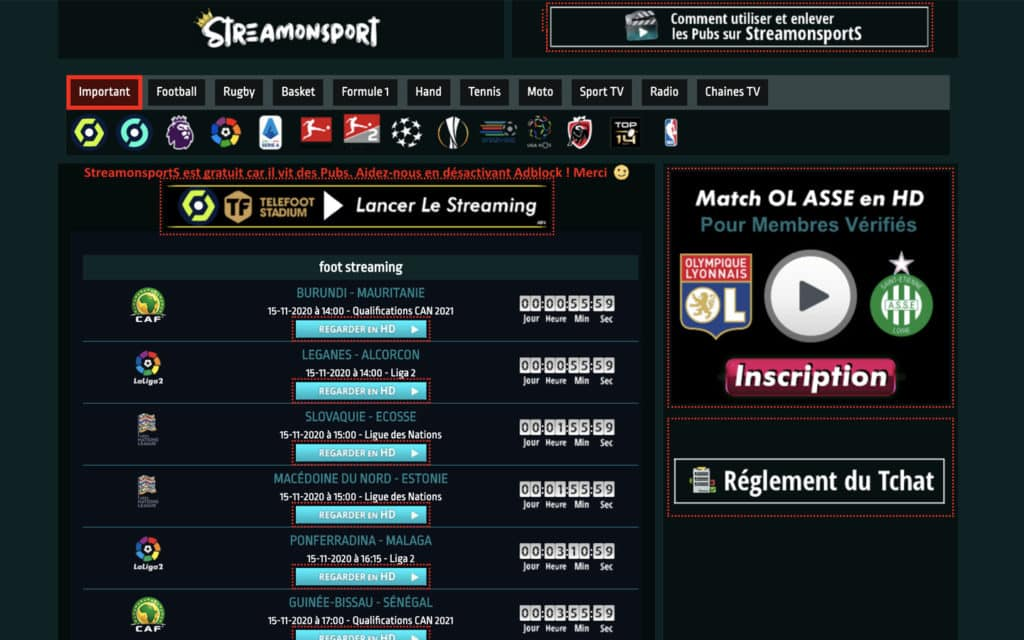 streamon sport football streaming